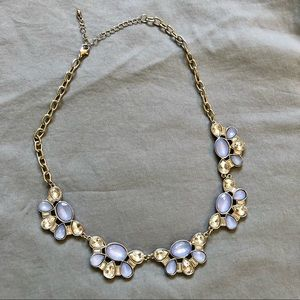 Rickis Periwinkle & Crystal Statement Necklace